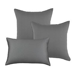 Hyannis Graphite Decorative Grey S-Backed Fiber Accent Throw Pillows (Set of 3)