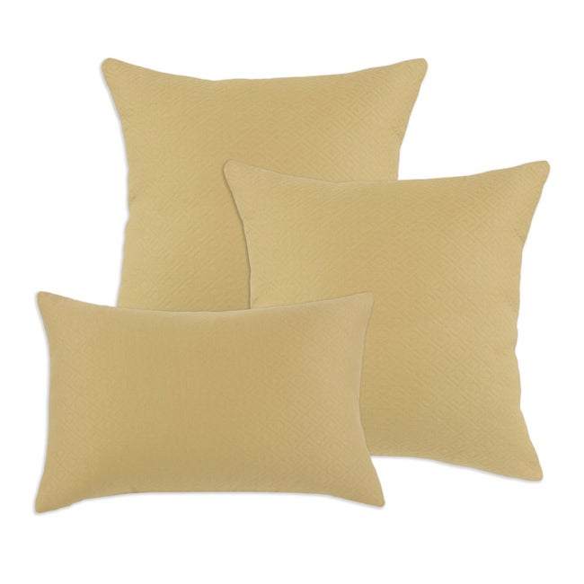 Hyannis Palomino Decorative Beige S-Backed Fiber Accent Throw Pillows (Set of 3)