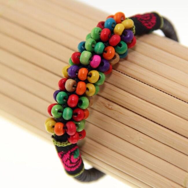 Multi-Color Beads Bell Bracelet (China)