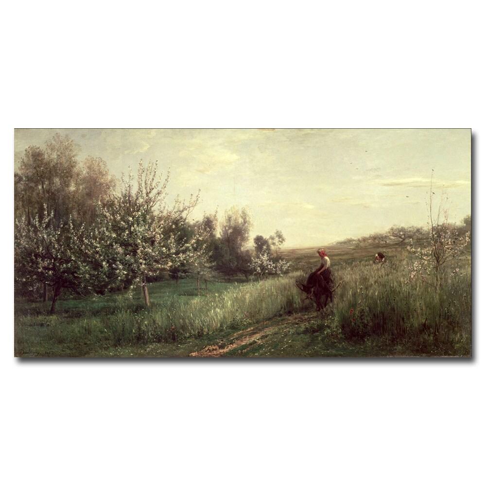 Charles Daubigny 'Spring 1857' Canvas Wall Art