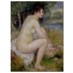 Pierre Renoir 'Nude in a Landscape, 1883' Gallery-Wrapped Canvas Art