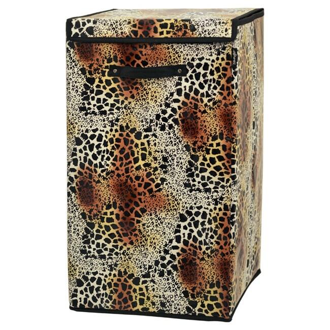 Tango Leopard Collapsible Hamper