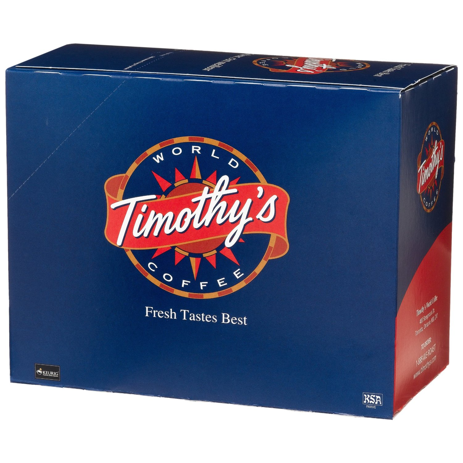 Timothy's World Coffee Rainforest Espresso Decaf K-cups