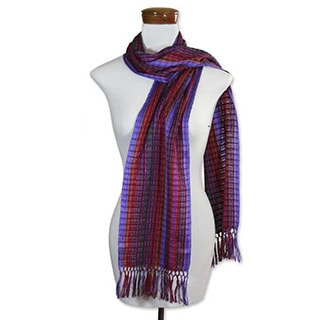 Cotton 'Fair Wine' Scarf (Guatemala)