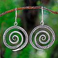 Sterling Silver 'Tribal Life' Earrings (Thailand)