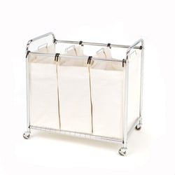 Seville Heavy Duty 3-bag Laundry Hamper Sorter