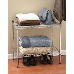 Seville 2-tier Stackable Chrome Shelf Storage