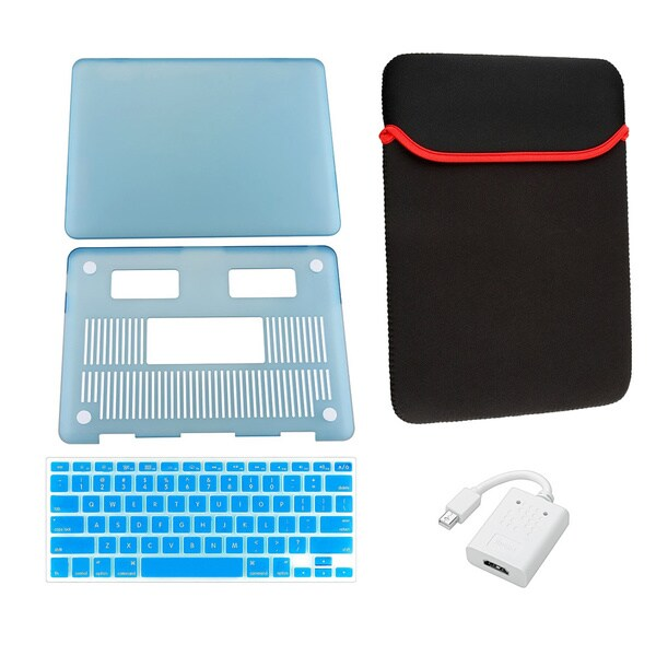 INSTEN Laptop Case Cover/ Skin/ Sleeve/ HDMI Adapter for Apple Macbook Pro 13-inch