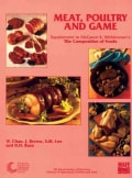 Meat, Poultry and Game: Supplement to the Composition of Foods (Paperback)