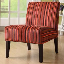 ETHAN HOME Decor Red Stripe Lounge Chair