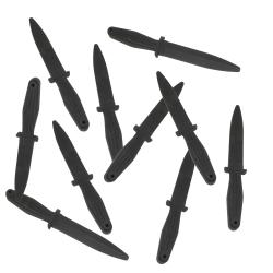 Ronin Gear Black Rubber Training Daggers (Pack of 10)
