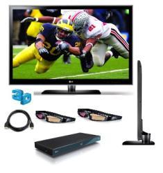 LG 55LX6500 55-inch 1080p 240Hz LED TV 3D Bundle