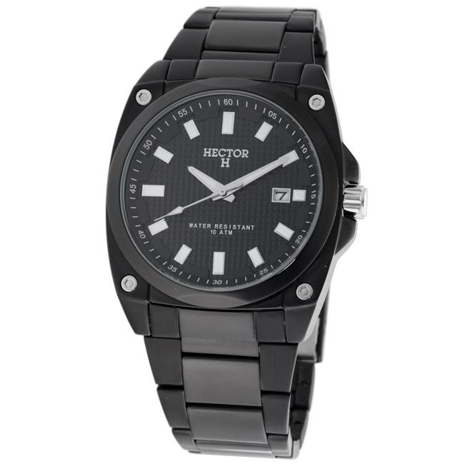 Hector H France Men's 'Fashion' Black Quartz Watch