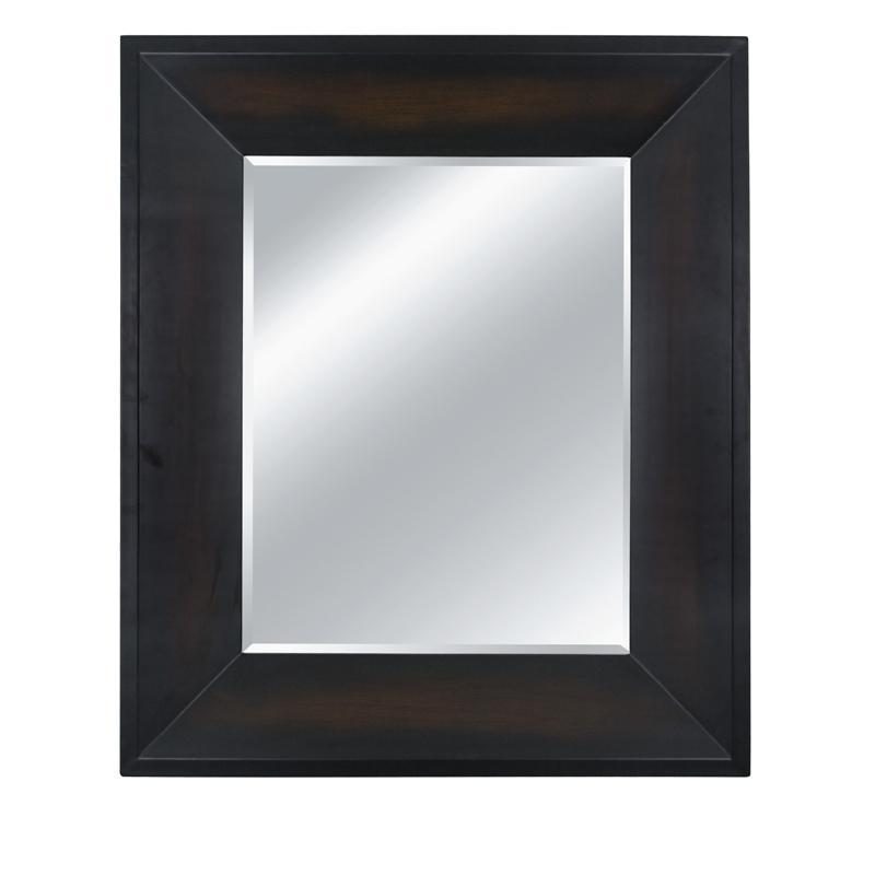 Rectangular Framed Sunset Brown Wall Mirror