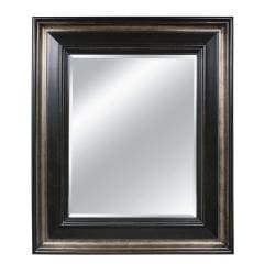 Rectangular Framed Rustic Espresso Wall Mirror