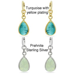 Miadora Sterling Silver Gemstone Earrings