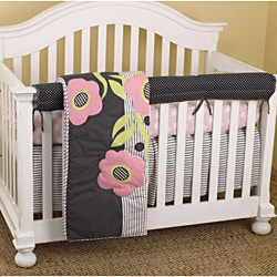 Cotton Tale Poppy Multicolor Four-piece Girls Crib Bedding Set