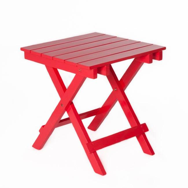 Red Foldable Side Table