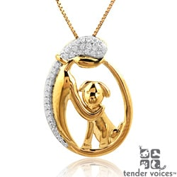 ASPCA Tender Voices Gold Plated on Silver 1/10ct TDW Diamond Necklace (I-J, I2-I3)