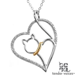 ASPCA Tender Voices Silver 1/10ct TDW Diamond Necklace (I-J, I2-I3)