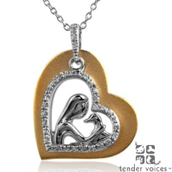 ASPCA Tender Voices Two-Tone Diamond Heart Necklace