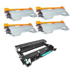 Brother Compatible TN450's, 1 DR420 Drum Unit (Pack of 4)