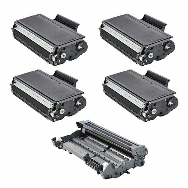 Brother Compatible TN580, 1 DR520 Drum Unit (Pack of 4)
