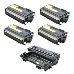 Brother Compatible TN460, 1 DR400 Drum Unit (Pack of 4)