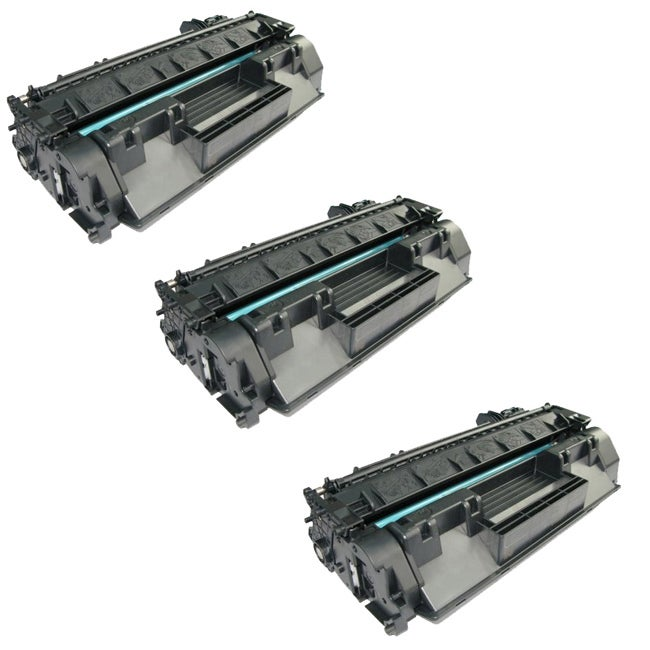 HP CE505A Compatible Black Toner Cartridges (Pack of 3)