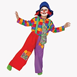 Dress Up America Boys' 'Colorful Clown' Costume