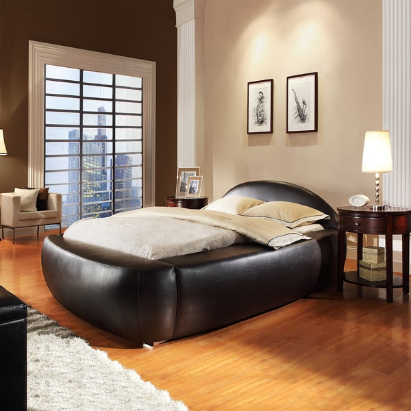 Yorkshire Black Bonded Leather Full Bed