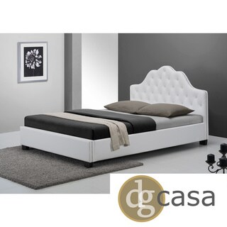 DG Casa White Queen Size Cassidy Bed
