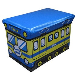 Cute Children's Blue Folding Storage Ottoman (Small Size)