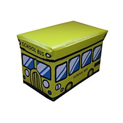 Children's Yellow Folding Storage Ottoman (Small Size)