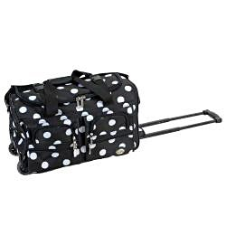 Rockland Perfect Ensemble Black Dot 3-piece Expandable Luggage Set