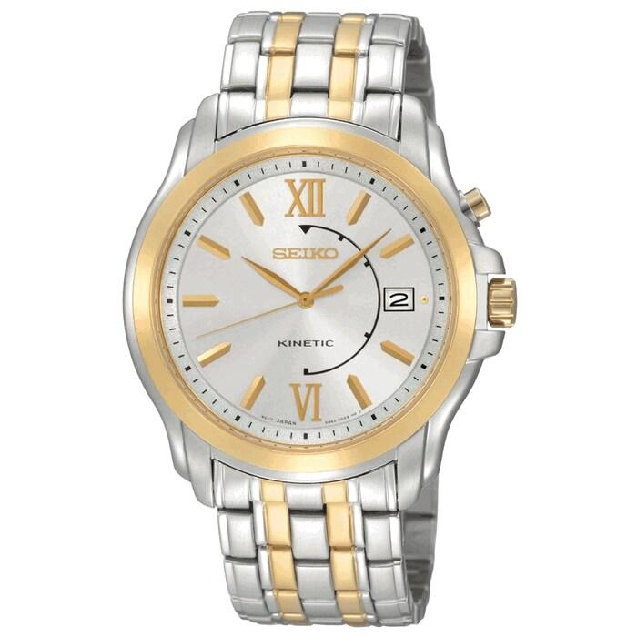 Seiko Men's SKA472 Kinetic Stainless Steel Watch