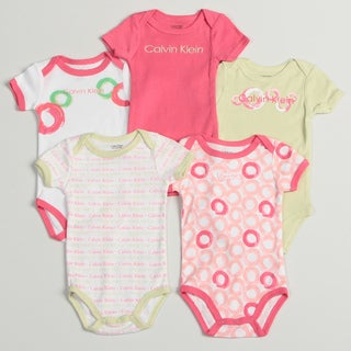 Calvin Klein Newborn Girl's Assorted Bodysuits (Set of 5)