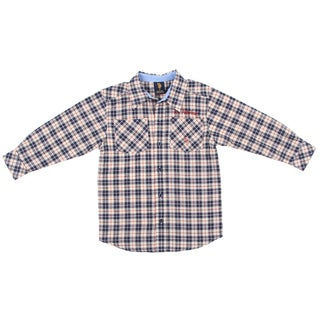US Polo Boy's Plaid Button Front Shirt FINAL SALE
