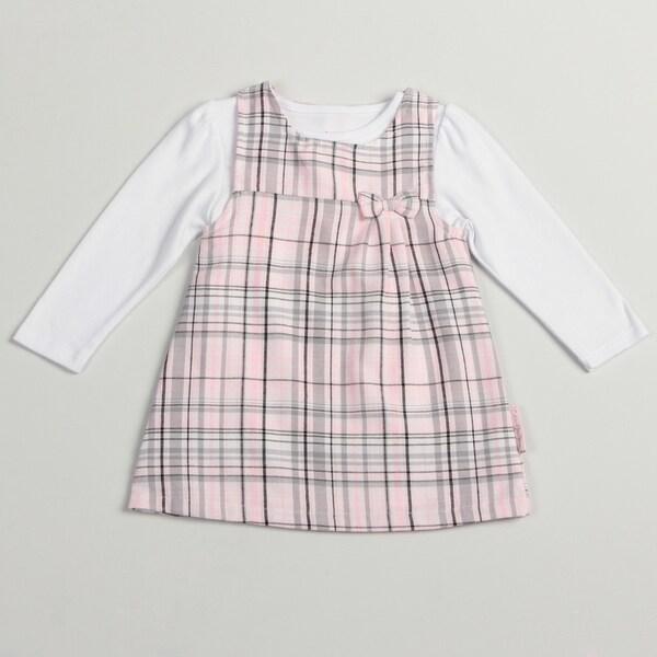 Calvin Klein Toddler Girls Pink/ Grey 2-piece Jumper
