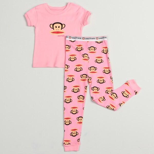 Paul Frank Toddler Girls' Two-piece Pink 100-percent Cotton Pajama Set