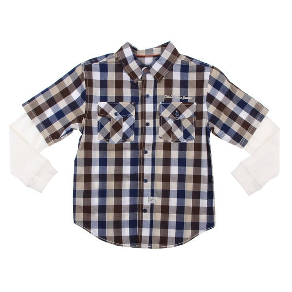 Calvin Klein Boys Plaid Shirt