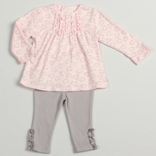 Calvin Klein Infant Girls Pink/ Grey Legging Set