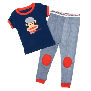 Paul Frank Toddler Boy's Blue Two-piece Monkey-print Cotton Pajama Set FINAL SALE