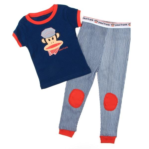 Paul Frank Toddler Boy's Blue Two-piece Monkey-print Cotton Pajama Set FINAL SALE