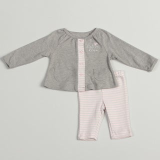 Calvin Klein Girl's Newborn Pink/ Grey 2 piece Set