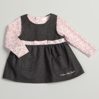 Calvin Klein Infant Girl's Pink/ Grey 2-piece Set