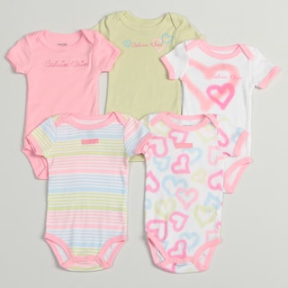 Calvin Klein Newborn Girls Assorted Bodysuits (Pack of 5)