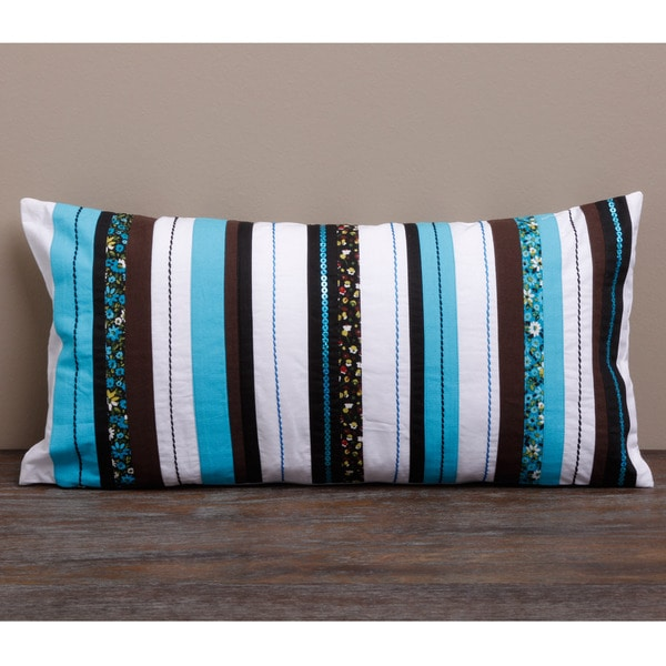 Striped Pillow Cover (India)