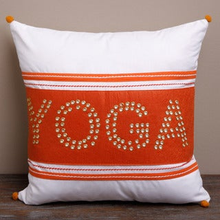 Orange Yoga Pillow Cover (India)