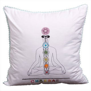 Spiritual Journey Chakras Cushion Cover (India)